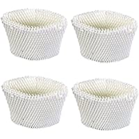 Think Crucial 4 Replacements for Vicks WF2 Humidifier Filter Fits V3500N, V3100, V3900 Series, V3700, 1118 Series & HCM-350 Series, Compatible With # WF2