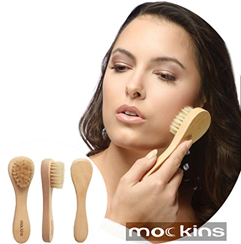 mockins Natural Boar Bristle Body Brush Set With Detachable Cellulite Brush And Long Wooden Handle For Dry Brushing Perfect Kit To Exfoliate And Alleviate Cellulite - Best Mother's Day Gift Set … … by Mockins (Image #4)