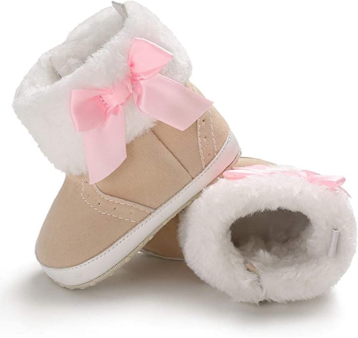 Voberry Baby Toddler Girls Boys Winter Outdoor Warm Snow Boots Soft Crib Shoes