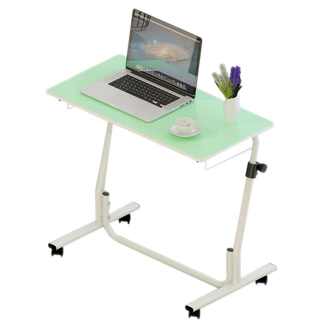 BETTY テーブル レイジーラップトップテーブル調節可能な高さリフト可動ソファベッドサイドホームコーヒーリーディングラップトップポータブル小型デスク、805062-82cm (Color : Green)  Green B07T1CPHWB