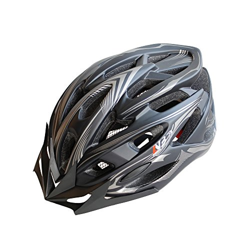 NetBiker Cycling Bike Helmet,Adjustable Lightweight Mountain Road Bicycle Helmet with Removable Visor and Liner,CPSC Safety Certified for Adult Men Women and Teen Boys & Girls
