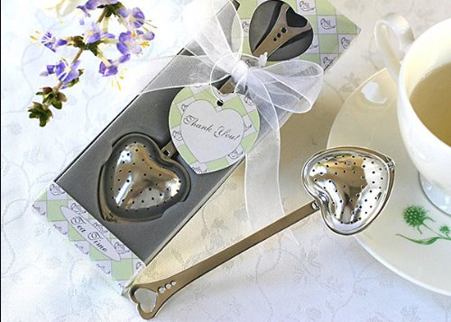 TeaTime Heart Tea Infuser Favor in Teatime Gift Box (Set of 32) by Baby Shower Gifts & Wedding Favors