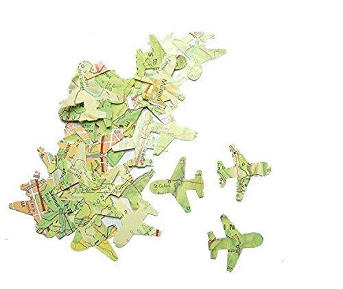 Confeti - papel en forma de avión - atlas
