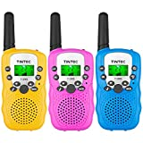 Tintec 3 Pack Walkie Talkies, 22 Channels 2 way Radio Toy with Backlit