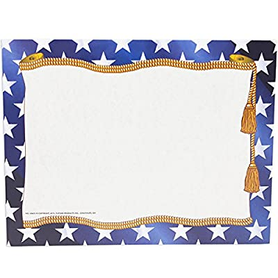 Hayes Replacement Stars Blank Certificate with Borders, 11 x 8-1/2 inches, Paper, Pack of 50: Toys & Games