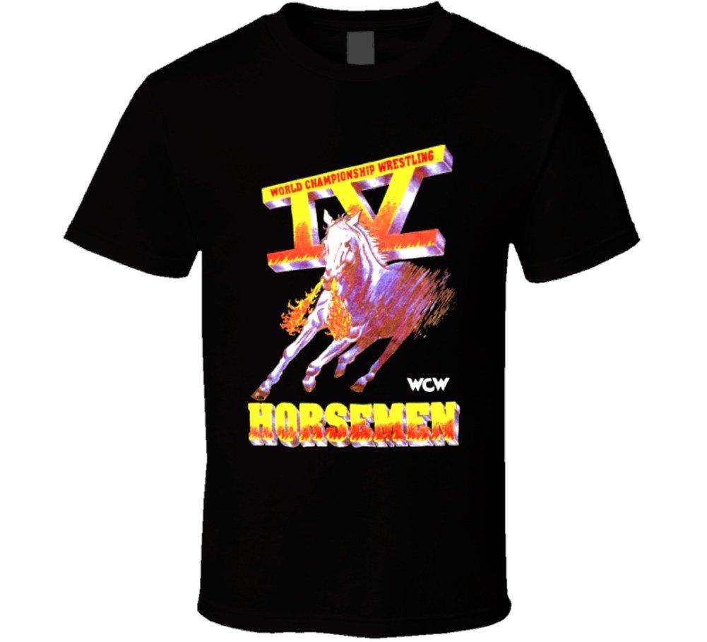 The Village T Shirt Shop WCW Four 4 Horsemen RIC Flair Wrestling Legends T Shirt L Black