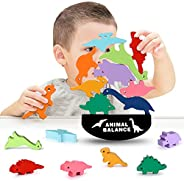 Dinosaur Building Wooden Blocks Toys for 3-7 Year Old Boys Girls STEM Montessori Educational Stacking Toys Bir