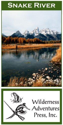 Amazon Com Snake River Wyoming 11x17 Fly Fishing Map Fishing