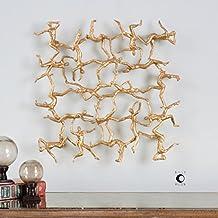 The Uttermost Golden Gymnasts Wall Art