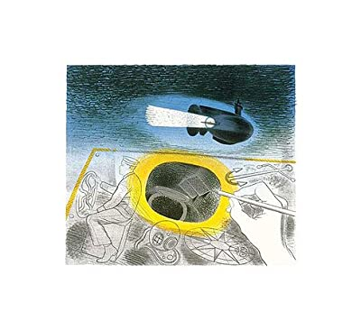 Submarine Series Introductory Lithograph (1941) By Eric Ravilious