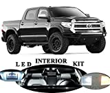 led package - Toyota Tundra Xenon White LED Package Upgrade - Interior + License plate / Tag + Vanity / Sun Visor + Reverse / Backup (19 pieces)