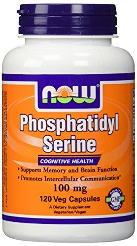 NOW Foods Phosphatidyl Serine 100mg,(2 x 120) 240 Veg Capsules by NOW