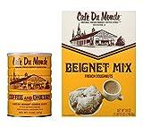 Cafe Du Monde Beignet Mix 28 oz & Cafe Du Monde Coffee & Chicory 15 oz Set - A New Orleans Tradition!