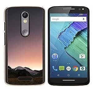 YiPhone /// Prima de resorte delgada de la cubierta del caso de Shell Armor - Horizon Montañas Ver la salida del sol - Motorola Moto X3 3rd Generation