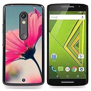 For Motorola Verizon DROID MAXX 2 / Moto X Play - Spring Flower Summer Focus Blurry Blue /Modelo de la piel protectora de la cubierta del caso/ - Super Marley Shop -