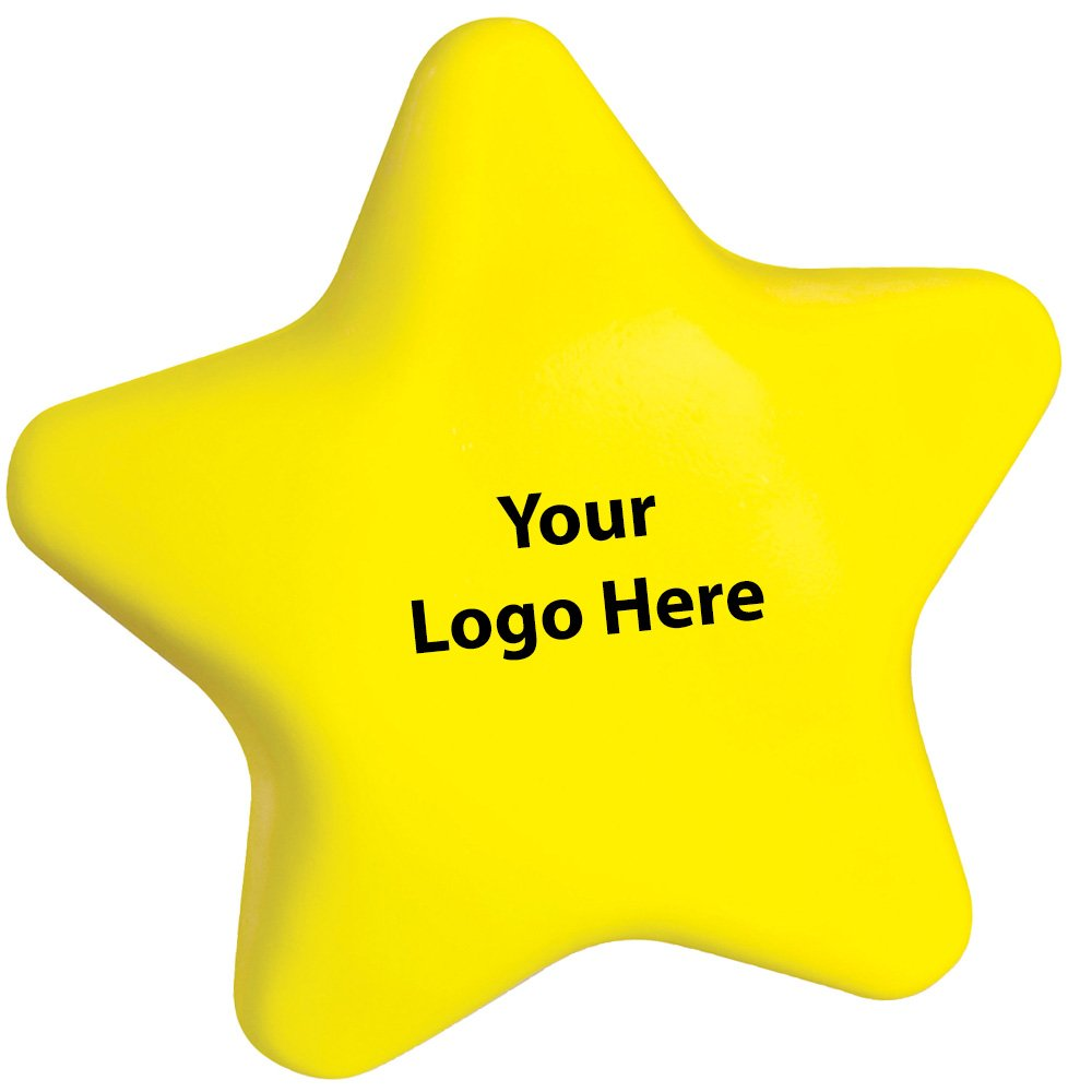 Star Stress Reliever - 300 Quantity - $1.00 Each - PROMOTIONAL PRODUCT / BULK / BRANDED with YOUR LOGO / CUSTOMIZED