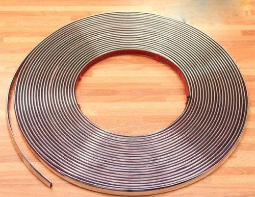 Chrom Zier Leiste 12mm x 15m selbstklebend universal Auto Chromleiste