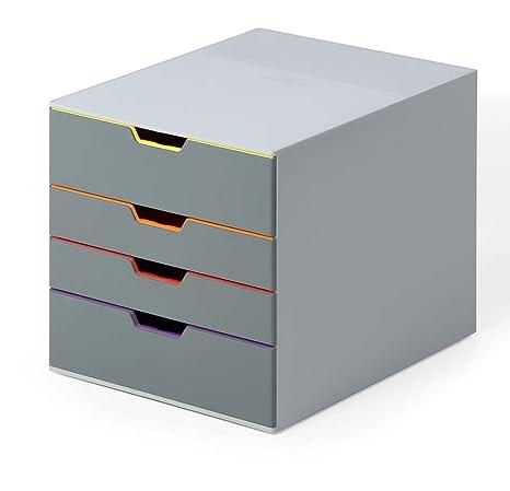 Durable 760427 Varicolor 4 Cassettiera Con 4 Cassetti Colorati