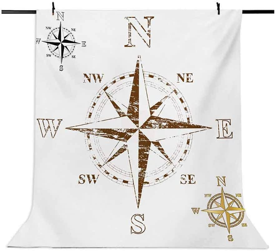 Compass 10x12 FT Photo Backdrops,Calming Faded Windrose Sailing Movement Action Finding Your Way Ocean Exploration Background for Photography Kids Adult Photo Booth Video Shoot Vinyl Studio Props