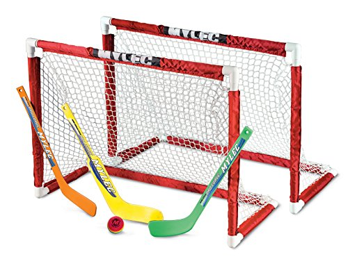 Mylec Deluxe Mini Goal Set - Mylec Foam Hockey Puck