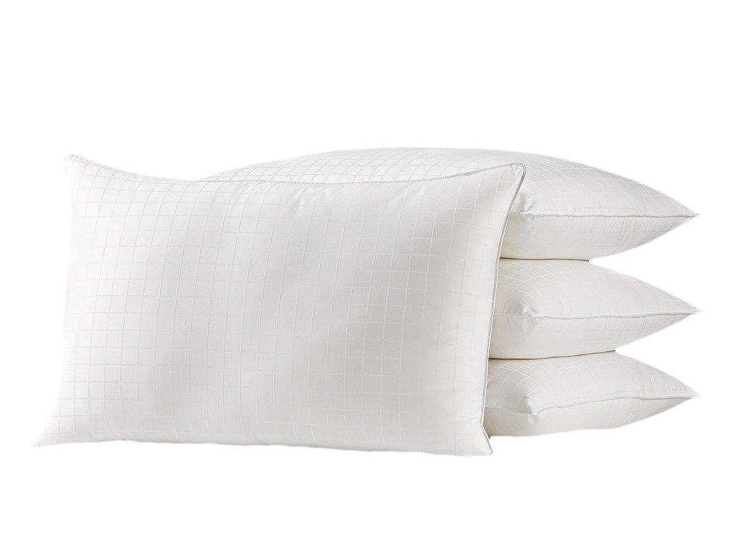 Exquisite Hotel Plush Down Alternative Gel Fiber Fill Bed Pillow Queen White 4 Firm 100% Cotton Shell Bed Pillows