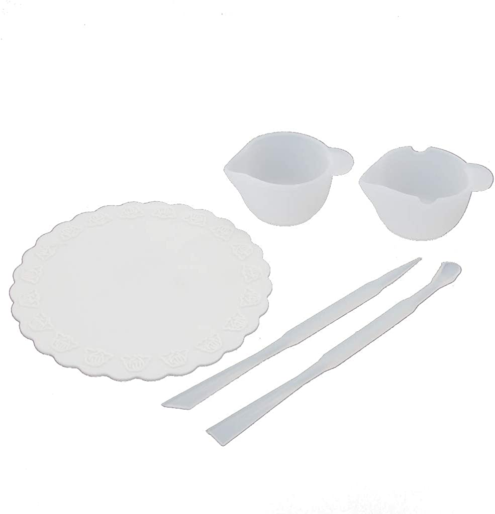 Senoow UV Resin DIY Casting Jewelry Tools Kit Including Silicone Cup Stirrers Spoon Pad