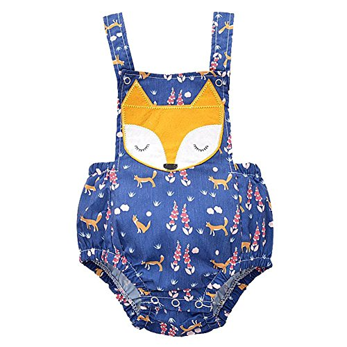 Fox Infant Creeper (Weixinbuy Baby Girls Fox Pattern Rompers Bodysuit Jumpsuit Outfit Clothes)