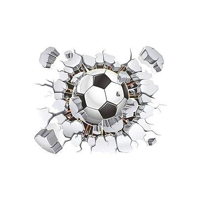 12433a2fa Amazon.com  Toonol 1PCS Creative 3D Football Soccer Broken ...