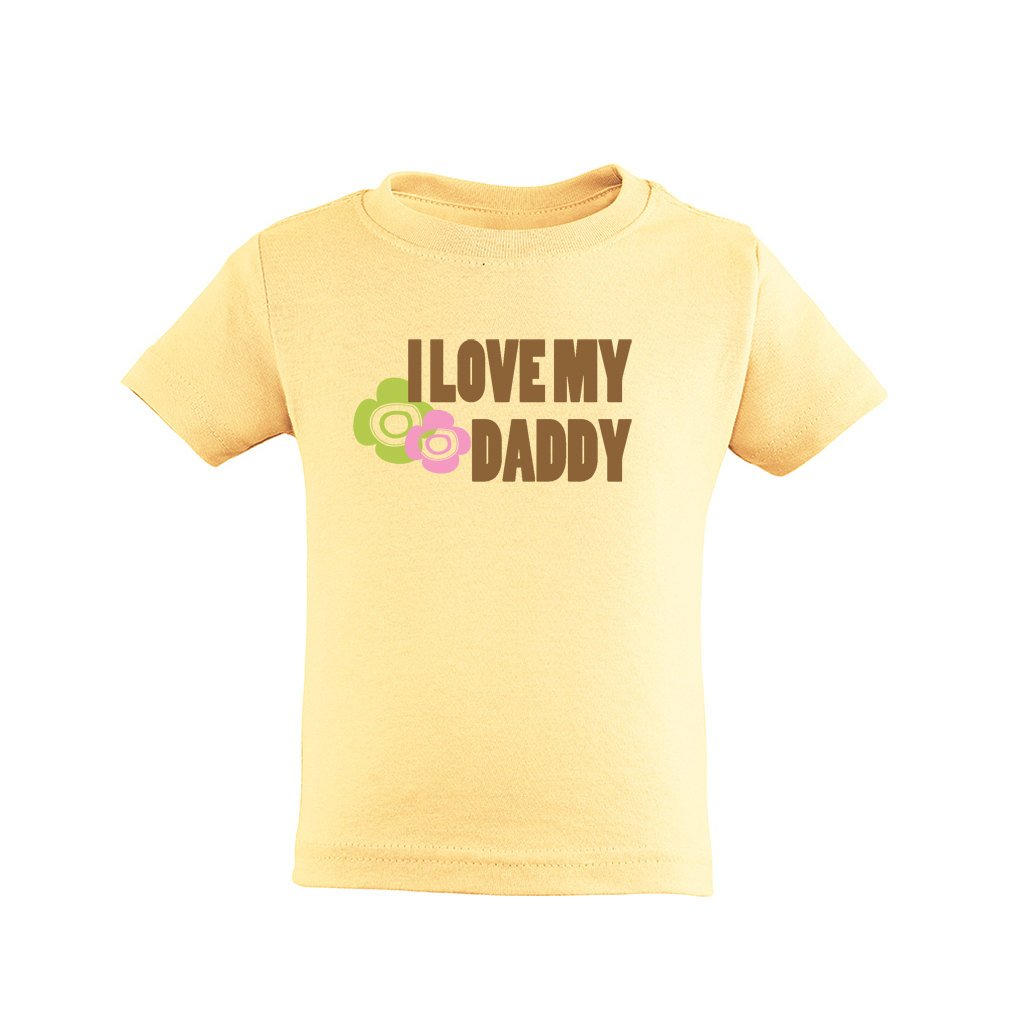 Adorable Little Girls I Love My Daddy Cute Father's Day Soft Cotton Kids T-Shirt LOVEDAD-3321-PNK-2T
