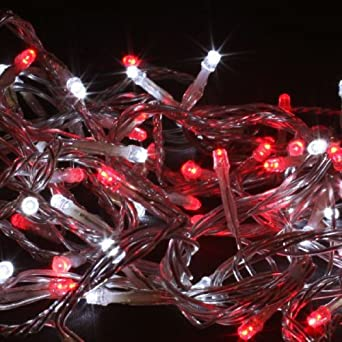 red white led fairy christmas lights transparent wire multi function controller outdoor transformer and controller indoor or outdoor string lighting - Red And White Led Christmas Lights