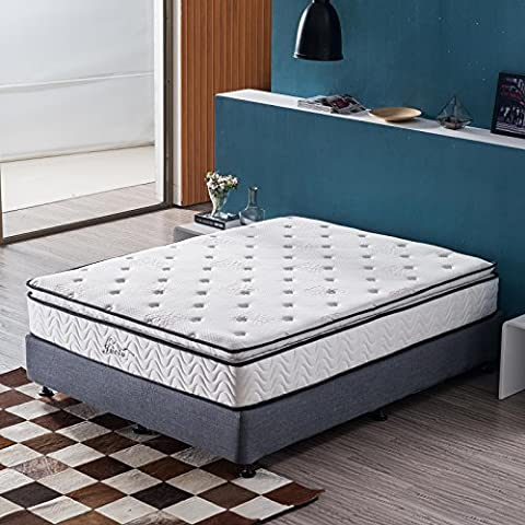 Jacia House 11.4 Inch Pillow Top Memory Foam Innerspring Independently Encased Coil Mattress Twin Full Queen Size CertiPUR-US Foam Enjoy a Softy & Comfy Night's Sleep Guest - Soft Foam Top