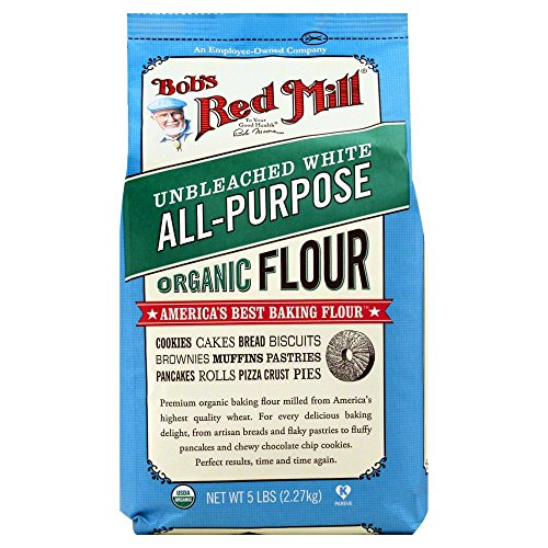 Bob's Red Mill Organic White Flour - Unbleached - 5 (Enriched Wheat Flour)