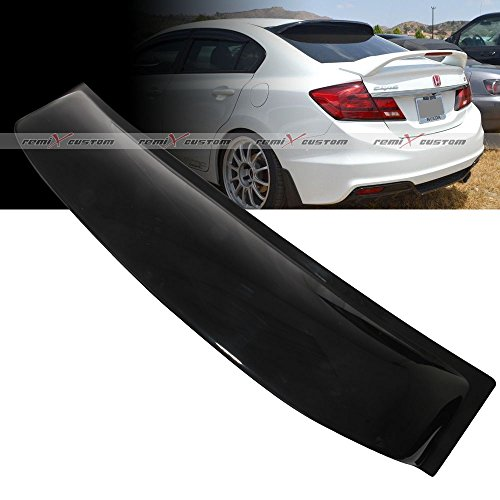 Civic Spoiler Honda - 2012 - 2015 Honda Civic 4DR Sedan Rear Roof Window Visor Spoiler Wing 13 14