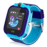 Ameiqa Kids Smart Watch, Kids LBS Tracker Watch Color Touch Screen Smartwatch with Camera Flashlight Smartwatch for Kids, SOS Emergency Call Watch, Kids Phone Watches Compatible with iOS and Android