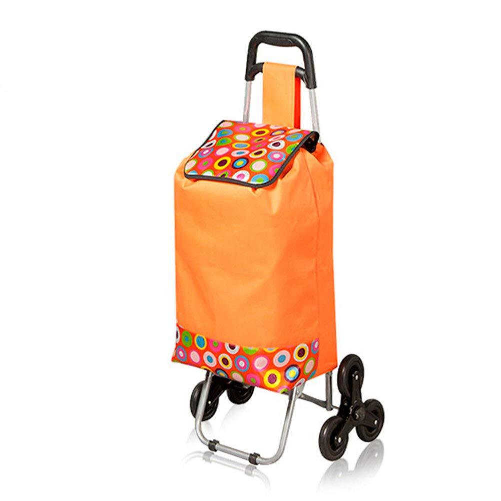 ZHAOHUI Escaliers escamotables Monture en Acier Tissu Oxford imperméable, Grande capacité 43L, 2 Couleurs (Couleur : Orange)