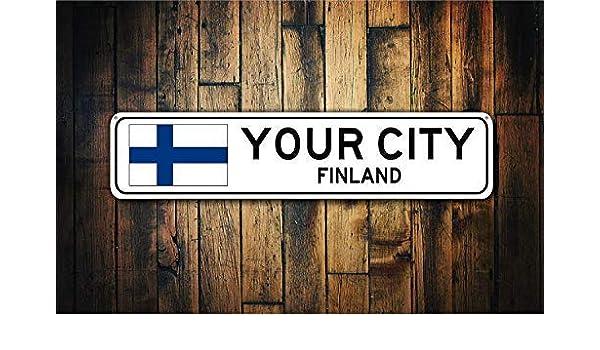 EpochSign - Cartel de Metal con la Bandera de Finlandia, Recuerdo ...