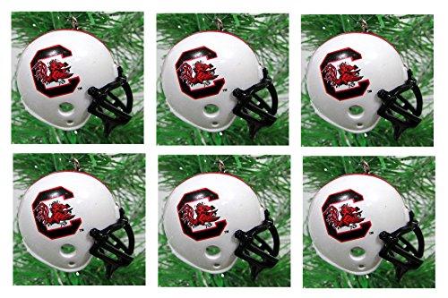 NCAA College Football South Carolina Gamecocks Christmas Ornament Set - Unique Shatterproof Plastic (Gamecocks Ornaments)