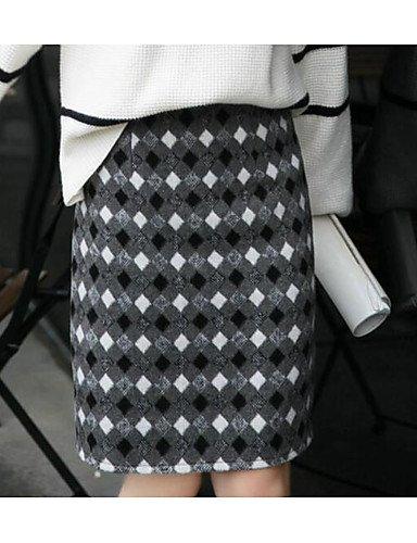 Mayihang Vestido Falda de la Mujer Going out Rodilla Faldas ...