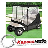 WATERPROOF SUPERIOR BLACK AND TRANSPARENT GOLF CART COVER...