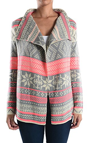 Aris Snow Day Warm Aztec Tribal Navajo Cardigan Sweater Bundle: Jacket & Bag (Small, Neon - Isle Sweater
