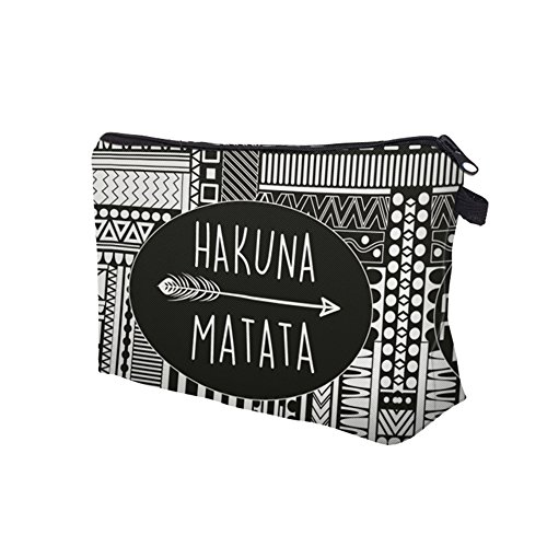 Roomy Cosmetic Bag,3 piece Set Deanfun Waterproof Travel Toiletry Pouch Makeup with Zipper (Hakuna Matata) by Deanfun (Image #5)
