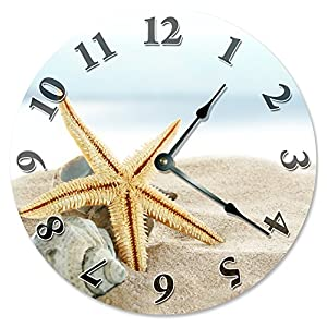 51MbQOdJgCL._SS300_ Coastal Wall Clocks & Beach Wall Clocks