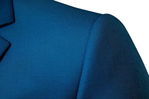 1 Homme 9 Mens Affaires Blazer Haut Classique Décontraction Boucle Nouveau Veste Yyzyy Suit Couleurs Bleu Costume PdaqId