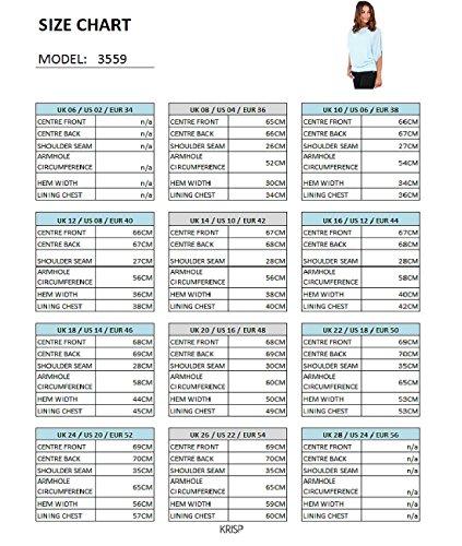 KRISP-Women-Chic-Loose-Casual-Dolman-Batwing-Sheer-Chiffon-Tunic-Top-Blouse-Plus