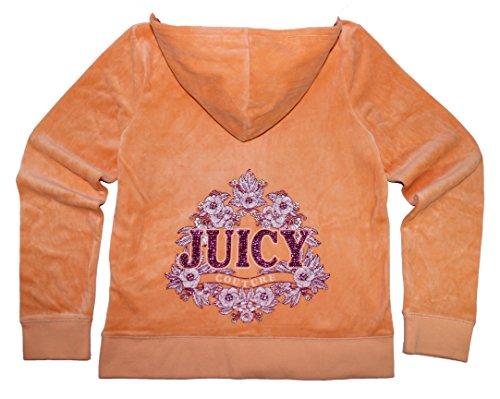 Juicy Couture Womens Peach Bellini 'Juicy' Hoodie (X Large)