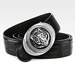 Genuine Crocodile Leather Dress Belt