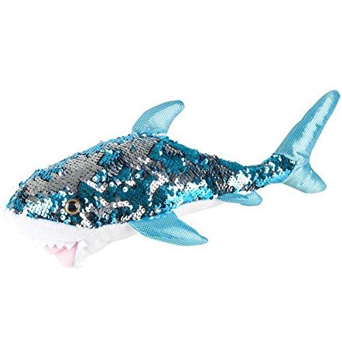 Reversible Mermaid Sequins Great White Shark 10