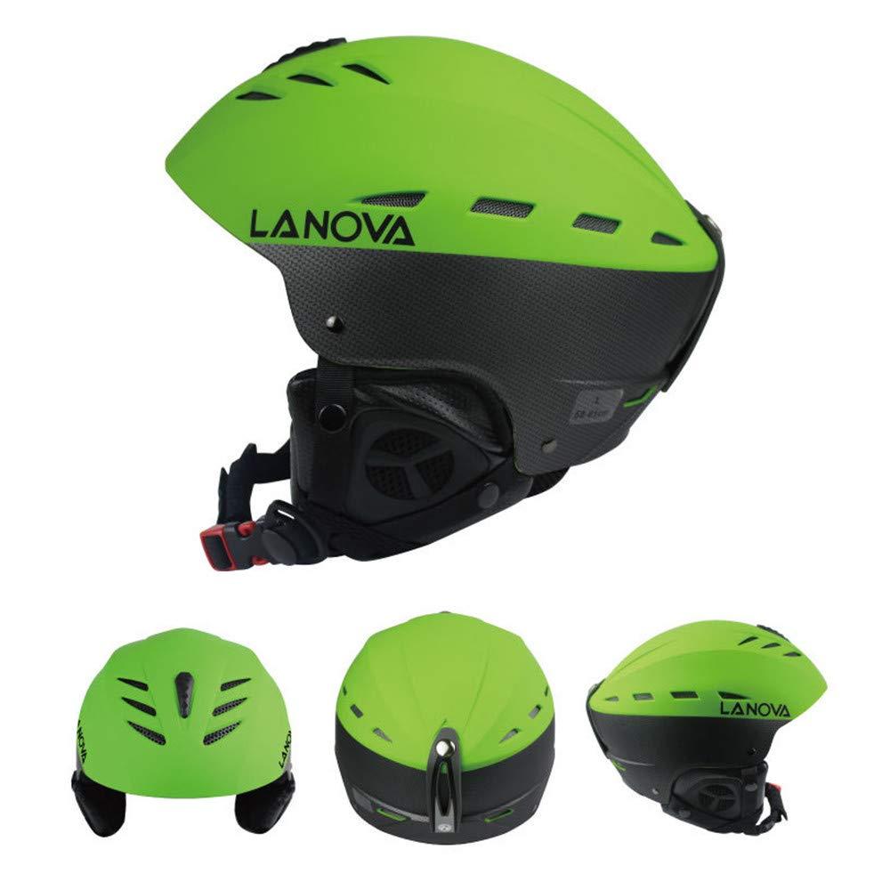 AUMING Fahrradhelm Professioneller SKI Snowboardhelm für Männer und Frauen (Farbe   Grün)