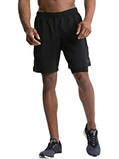 bfe51b78 ASICS Woven 2 In 1 Mens Running Shorts - Black: Amazon.co.uk: Sports ...