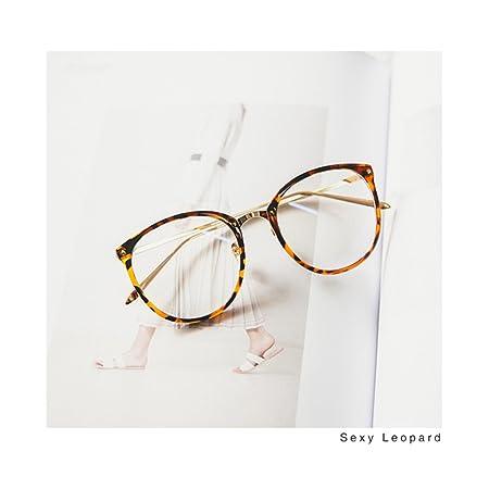 ca929258f8d7d Pingenaneer Montures de lunettes Rétro Rondes Lunettes de Vue Lentille  Claire pour Homme et Femme Lunettes Cadre Léopard  Amazon.fr  Cuisine    Maison